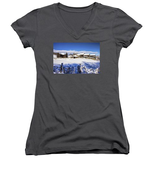 Frozen In Time One  Women's V-Neck T-Shirt