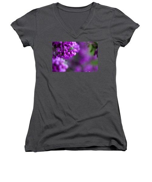 Full Bloom Women's V-Neck T-Shirt (Junior Cut) by Mark Alder