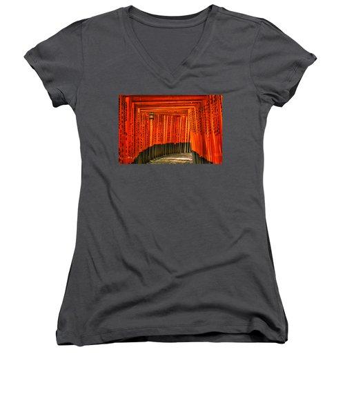 Fushimi Inari Women's V-Neck T-Shirt