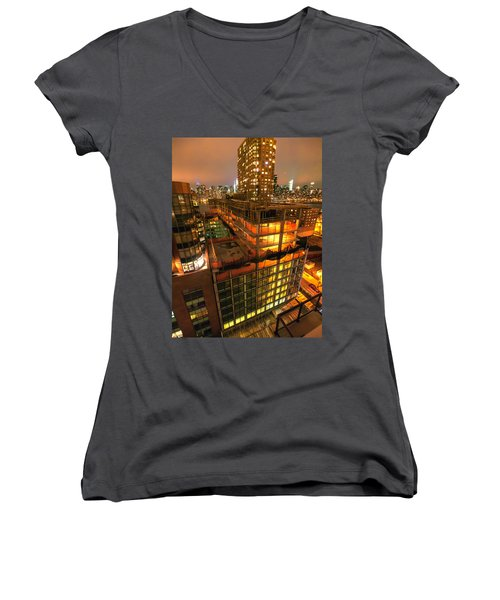 Future Views Women's V-Neck T-Shirt (Junior Cut) by Steve Sahm