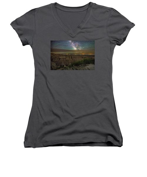 Galactic Pinnacles Women's V-Neck T-Shirt