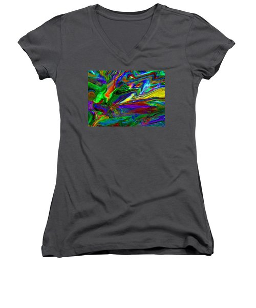 Galactic Storm Women's V-Neck T-Shirt