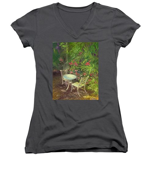 Garden Conversation Women's V-Neck T-Shirt