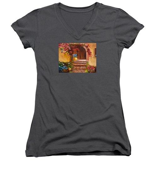 Garden Of Serenity Women's V-Neck T-Shirt