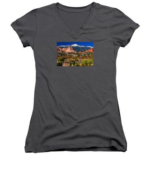 Garden Of The Gods In Autumn 2011 Women's V-Neck (Athletic Fit)
