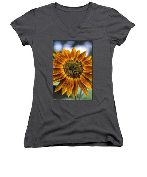 Garden Sunflower Women's V-Neck (Athletic Fit)