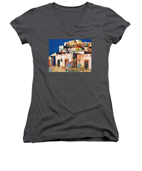 Gateway Into  The  Pueblo Women's V-Neck T-Shirt