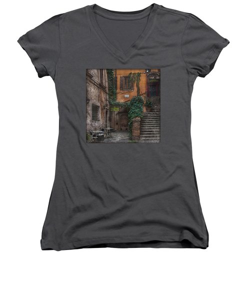 Gelateria Del Teatro Women's V-Neck (Athletic Fit)