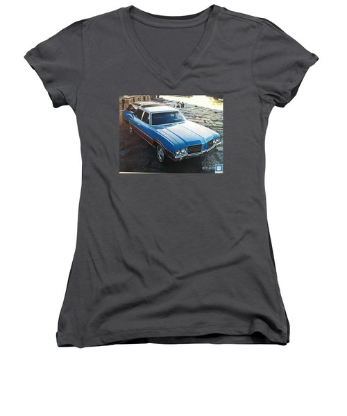 General Motors Posters Women's V-Neck (Athletic Fit)