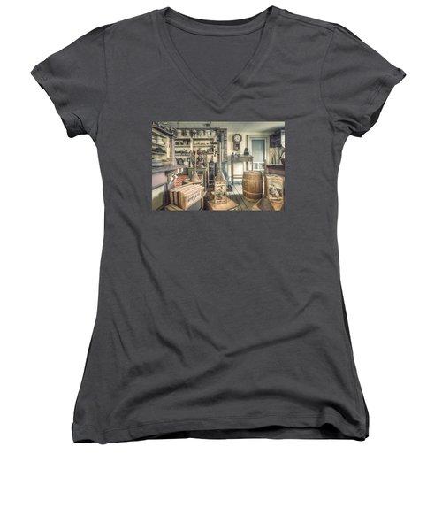 General Store - 19th Century Seaport Village Women's V-Neck