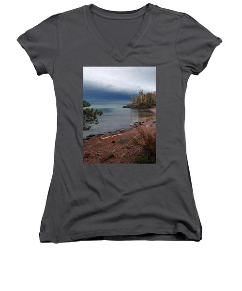 Get Lost In Paradise Women's V-Neck T-Shirt (Junior Cut) by James Peterson