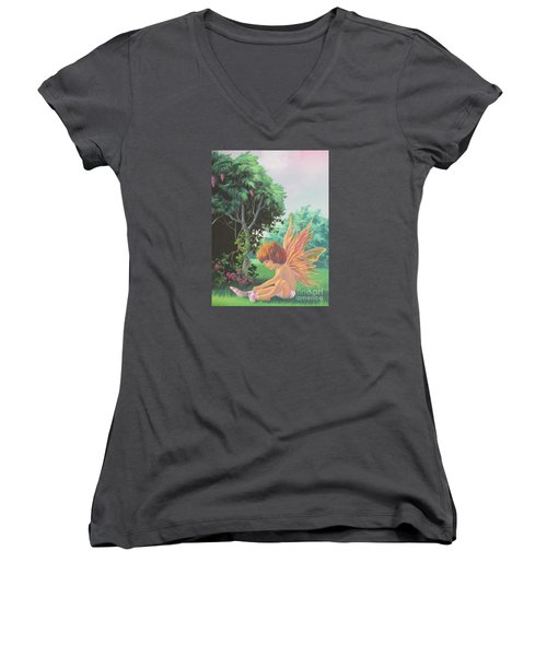 Getting Dressed Women's V-Neck T-Shirt