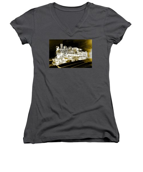 Ghost Train Women's V-Neck T-Shirt