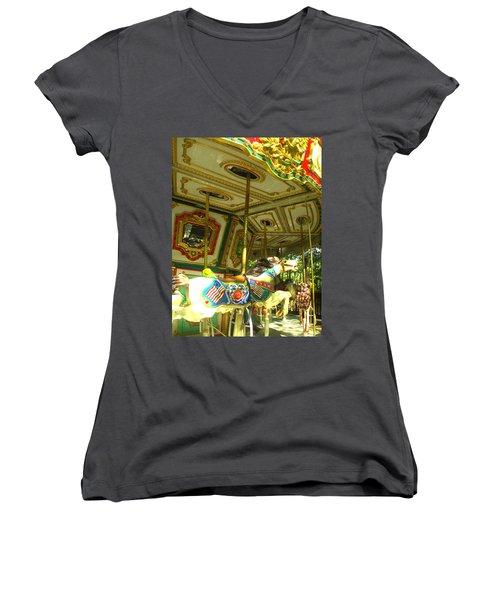 Girls' Dream Women's V-Neck T-Shirt (Junior Cut) by Rachel Mirror