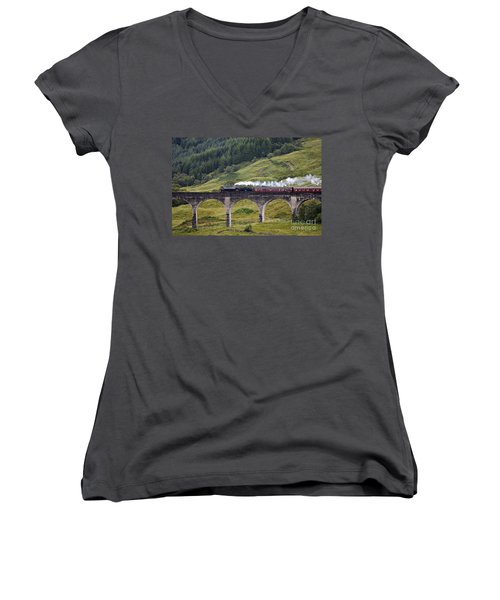 Glenfinnan Viaduct - D002340 Women's V-Neck (Athletic Fit)