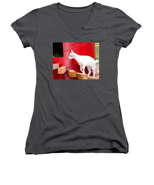 Kid's Play Women's V-Neck T-Shirt (Junior Cut) by Laurel Best