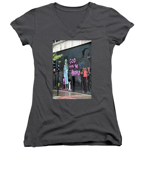 God Save The People Women's V-Neck