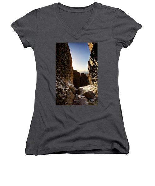 God's Eye View Women's V-Neck T-Shirt (Junior Cut) by Erika Weber