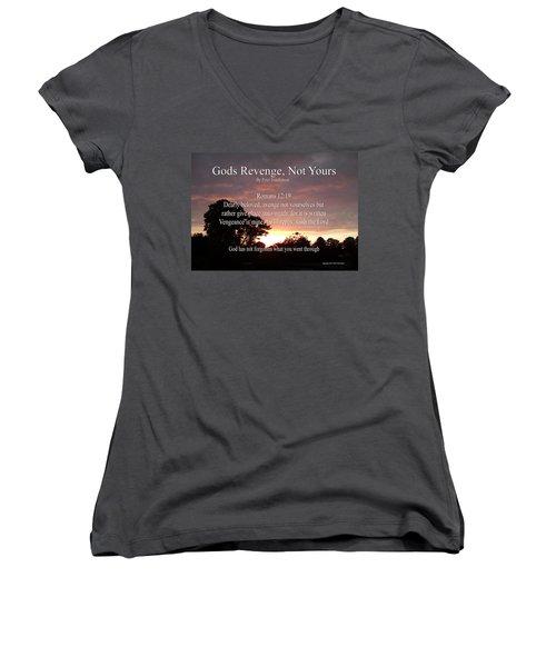 Gods Revenge Women's V-Neck T-Shirt