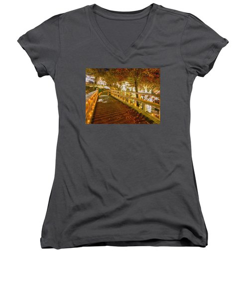 Golden Bridge Women's V-Neck