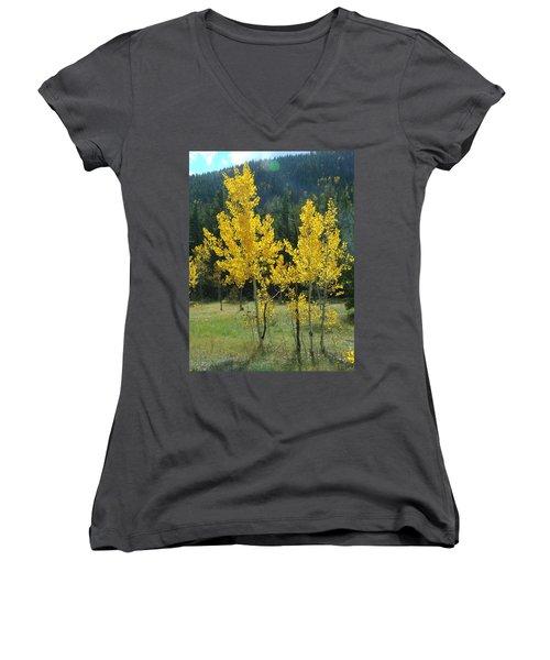 Golden Women's V-Neck T-Shirt