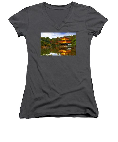 Golden Pavilion Women's V-Neck T-Shirt