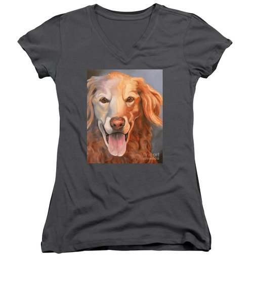 Golden Retriever Till There Was You Women's V-Neck