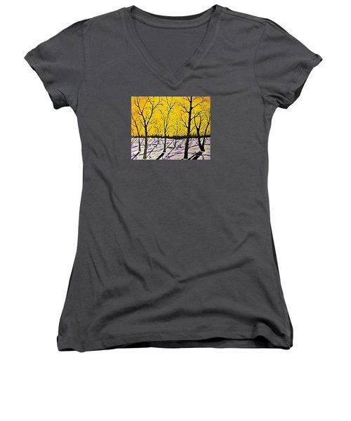 Golden Shadows Women's V-Neck T-Shirt