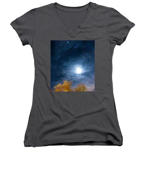 Golden Tree  Women's V-Neck T-Shirt (Junior Cut) by Angela J Wright