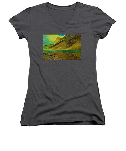 Golden Voyage Women's V-Neck T-Shirt (Junior Cut)