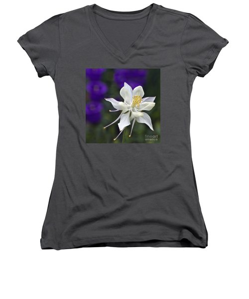 Women's V-Neck featuring the photograph Goldilocks And The Bells by Byron Varvarigos