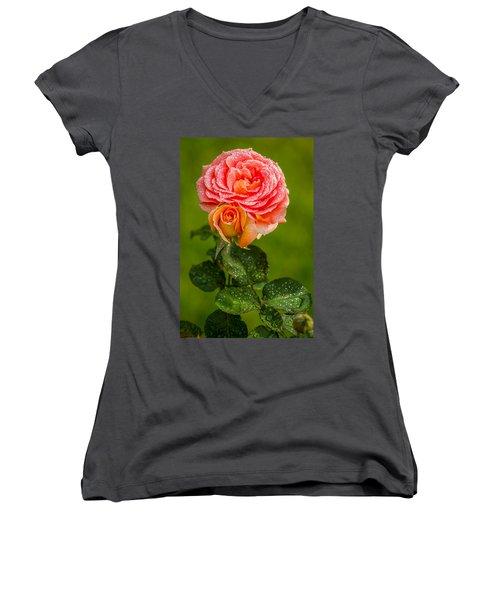 Women's V-Neck T-Shirt (Junior Cut) featuring the photograph Good Morning Beautiful by Ken Stanback