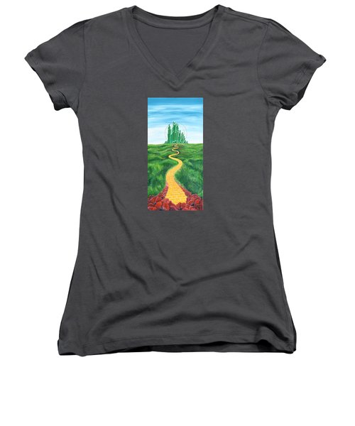 Goodbye Yellow Brick Road Women's V-Neck (Athletic Fit)