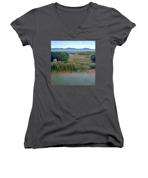Grace Vineyards No. 1 Women's V-Neck T-Shirt