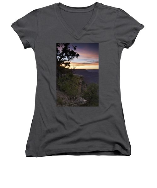 Grand Canyon Sunset 2 Women's V-Neck (Athletic Fit)