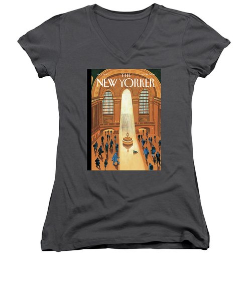 Grand Central Heating Women's V-Neck
