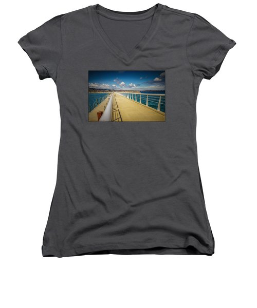 Grand Traverse Bay Women's V-Neck (Athletic Fit)