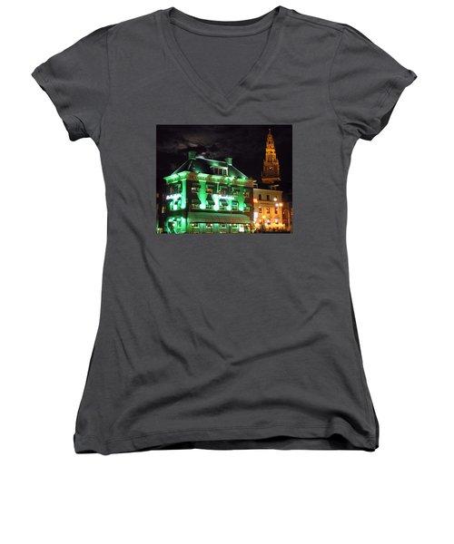 Grasshopper Bar Women's V-Neck T-Shirt