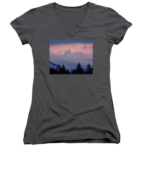 Women's V-Neck T-Shirt (Junior Cut) featuring the photograph Great Northern by Jack Bell
