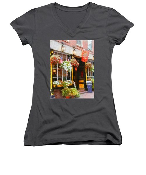 Green Dragon Tavern Women's V-Neck (Athletic Fit)
