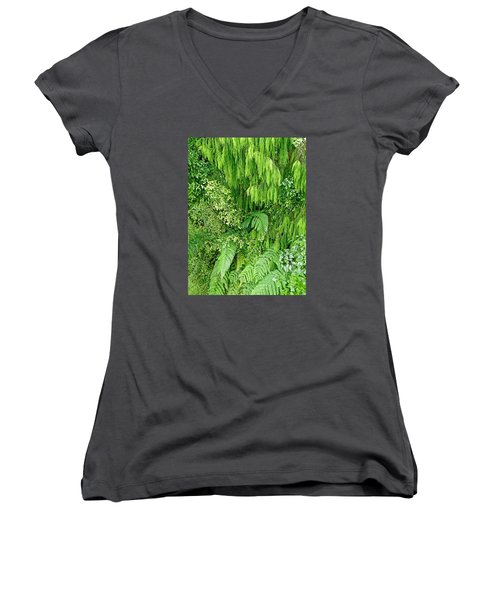 Green Green Women's V-Neck T-Shirt