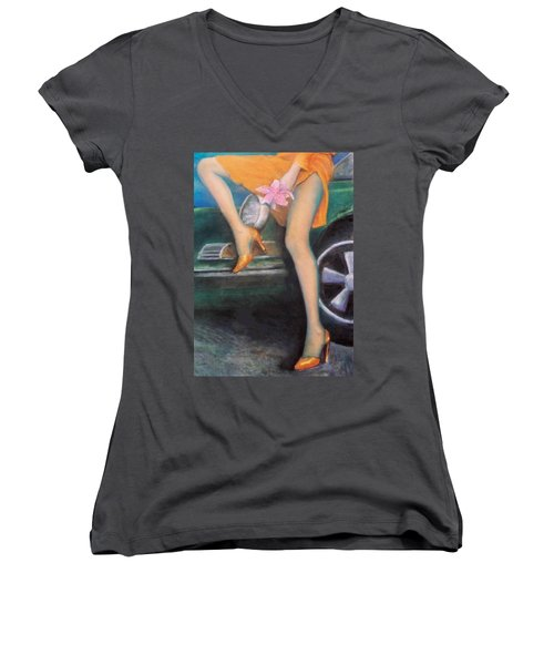 Green Porsche Women's V-Neck