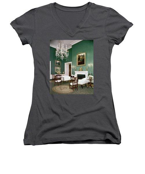 Green Room In The White House Women's V-Neck