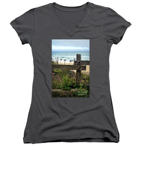 Greetings From San Francisco Women's V-Neck (Athletic Fit)