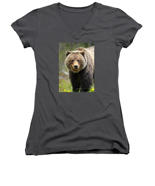 Grizzly Women's V-Neck T-Shirt