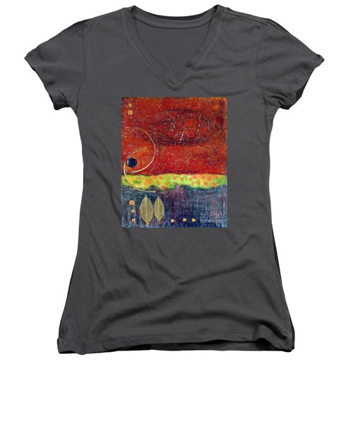 Grounded Women's V-Neck