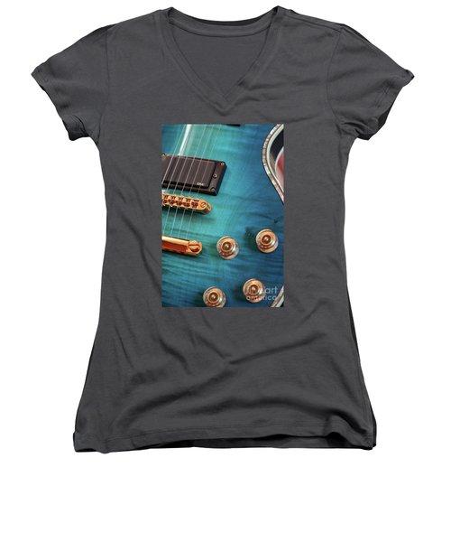 Guitar Blues Women's V-Neck