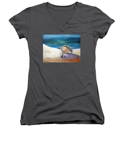 Gulf Shores And Shells II Women's V-Neck (Athletic Fit)