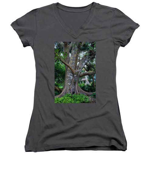 Gumby Tree Women's V-Neck (Athletic Fit)