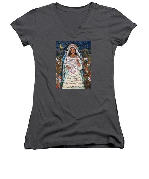 Hail Mary Women's V-Neck T-Shirt